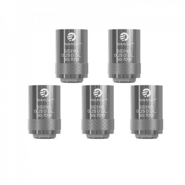 Résistances joyetech - Cubis / Aio - Notch Coil - 0,25/0,2/0,5/0,6/Clapton BF 1,5/SS316 1,0 Ohm